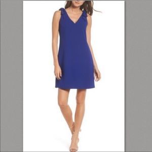 NWT Eliza J blue bow sheath dress size 6